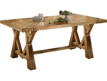 Table rectangulaire L220 chêne massif doré