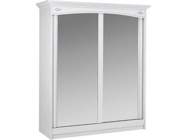 Armoire blanche 2 portes coulissantes à  glaces L180