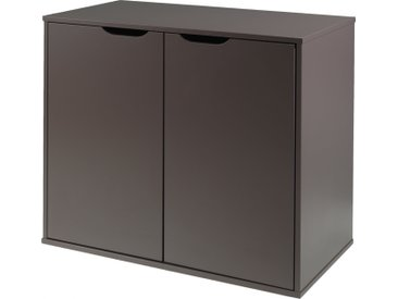 Commode enfant pin massif gris 2 portes - PINO