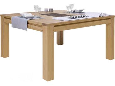 Table carrée chêne naturel céramique 1 allonge L130