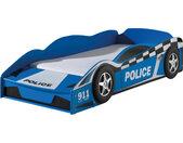 Lit enfant voiture de police avec coffre 70x140