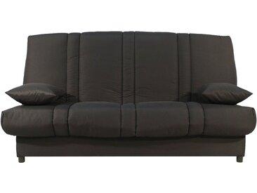 Banquette clic-clac tissu noir matelas 130x190 Sofaflex mousse