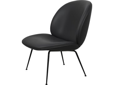 GUBI fauteuil BEETLE LOUNGE CHAIR CONIC BASE (Envy Black 21133 base nera - cuir Sørensen)