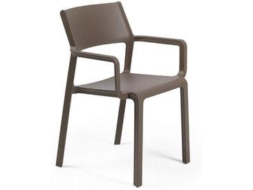 NARDI chaise avec accoudoirs pour extérieur TRILL ARMCHAIR (Tabac - Polypropylène PRV)