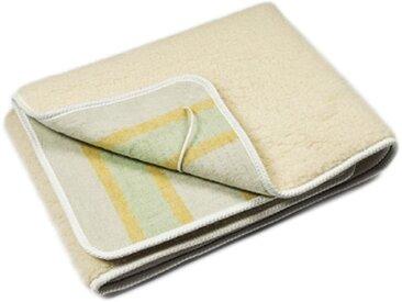 LANCALOR couverture chauffante électrique SCALDANOTTE une place et demi 165 x 120 cm 100% laine pure vierge merinos