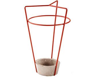 MEME DESIGN porte-parapluie AMBROGIO (Coquelicot - métal et ciment)