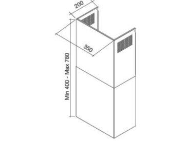 FALMEC cheminée KCQAN.00#X pour hotte QUASAR TOP (Inox - Acier)