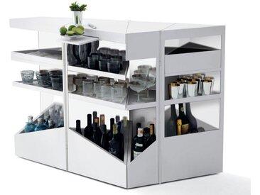 OPINION CIATTI meuble bar Q.BIST (Glacier White - Corian Dupont)
