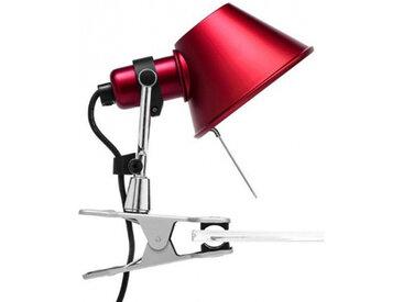 ARTEMIDE lampe pince TOLOMEO MICRO PINZA (rouge, halo/Led - Aluminium, acier)