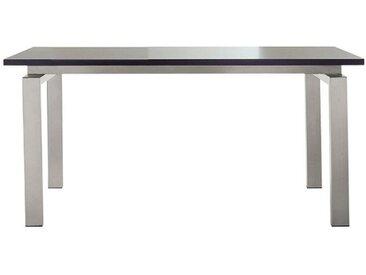 PEDRALI Table TS-SPACE (Plateau trasparent L 200 cm - Acier Inox / Verre)