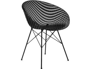 KARTELL chaise SMATRIK (noir / noir - polycarbonate coloré dans la masse et acier)
