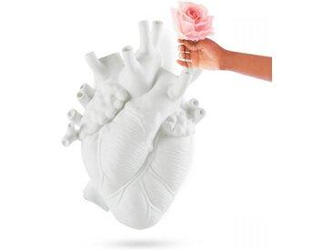 SELETTI vase murale en forme de coeur LOVE IN BLOOM GIANT (Blanc - Fiberglass)