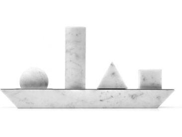 OPINION CIATTI accessoire de cuisine ELEMENTARE (Blanc - Marbre de Carrare et acier inox)