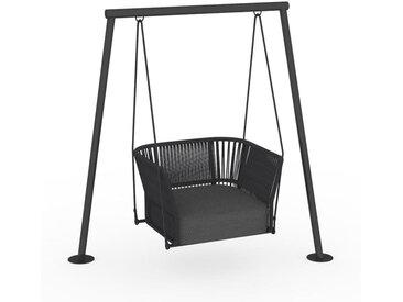 TALENTI balançoire avec structure d'extérieur CLIFF Collection Icon (Dark grey - Tissu et corde synthétique)