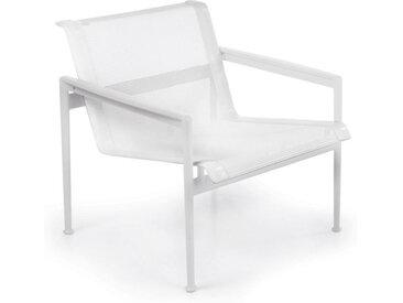 KNOLL fauteuil 1966 Lounge Chair Collection Richard Schultz (Blanc - aluminium et polyester)