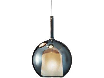 PENTA LIGHT lampe à suspension GLO (Medium Ø 25 cm / bleu - verre et métal)
