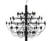FLOS lampe à suspension 2097/50 (Noir avec ampoules givré - Acier)