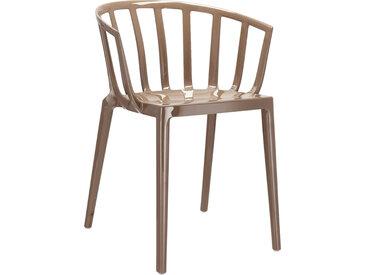 KARTELL set de 2 chaises avec accoudoirs VENICE (Gris tourterelle - Polycarbonate coloré dans la masse)