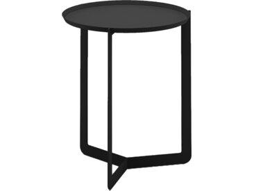 MEME DESIGN table basse pour extérieur ROUND 1 OUTDOOR (Noir - Métal)