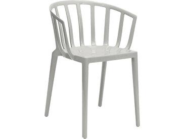 KARTELL set de 2 chaises avec accoudoirs VENICE (Gris - Polycarbonate coloré dans la masse)
