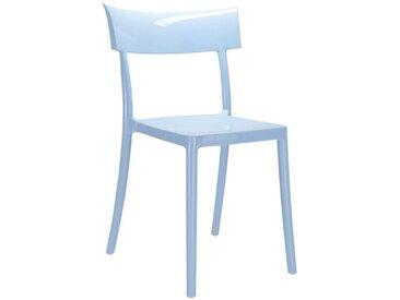 KARTELL set de 2 chaises CATWALK (Bleu - Polycarbonate coloré dans la masse)
