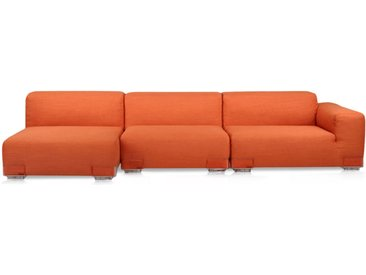 KARTELL Sofa Plastics Duo 2,90 mt - Composition 4 (Orange - polycarbonate, Coton, Viscose, Lin, Soie)