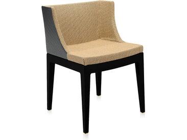 KARTELL fauteuil MADEMOISELLE KRAVITZ (Tissu rafia, structure Noire - Polycarbonate coloré dans la masse)
