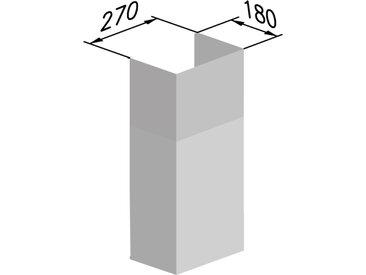 AIRONE kit de cheminée pour hotte murale HAMLET, BOHEME et MURANO EVO (Inox - Acier)