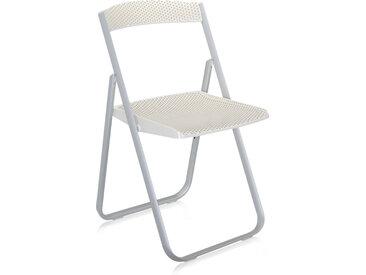 KARTELL chaise pliante HONEYCOMB (Blanc - Polycarbonate coloré dans la masse)