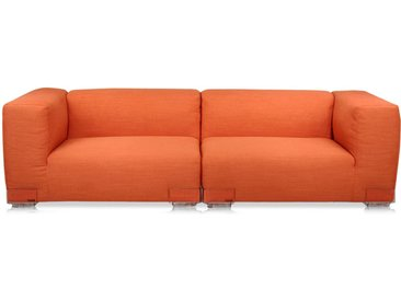 KARTELL Sofa Plastics Duo 2,28mt - Composition 2 (Orange - polycarbonate, Coton, Viscose, Lin, Soie)