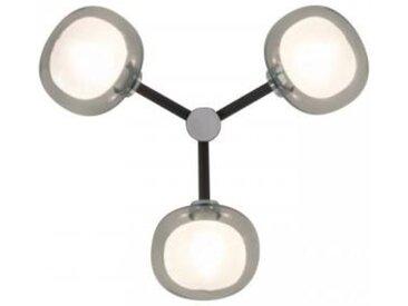 TOOY lampe murale applique ou plafond plafonnier NABILA 552.73 (Chrome noir, fumé - verre et métal)