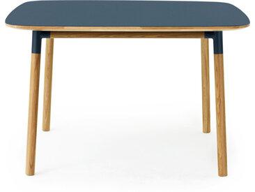 NORMANN COPENHAGEN table carrée FORM TABLE 120 x 120 cm (Bleu - Linoleum et chêne)