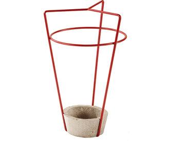 MEME DESIGN porte-parapluie AMBROGIO (Rosso Dalia - métal et ciment)