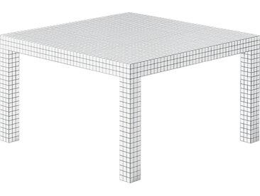 ZANOTTA table carré QUADERNA (126 x 126 cm - Laminé moulé)