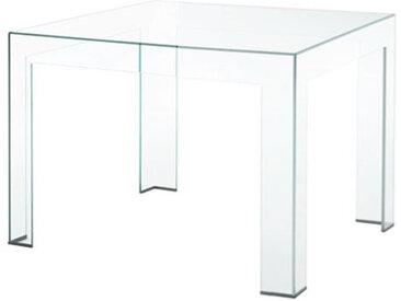 GLAS ITALIA table haute ATLANTIS (180 x 180 x H 74 cm - cristal transparent extralight)