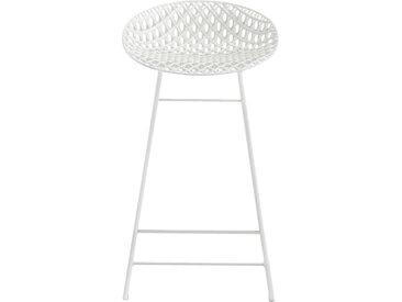 KARTELL tabouret pour extérieur SMATRIK (Blanc - polycarbonate coloré dans la masse et acier)