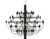 FLOS lampe à suspension 2097/50 (Noir avec ampoules claires - Acier)