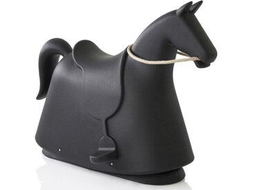 MAGIS cheval à bascule pour enfants ROCKY (Noir - Polyéthylène)