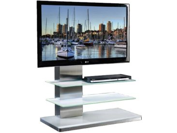 MUNARI meuble avec LED pour TV SYDNEY SY 342 SY342BI (Blanc - Verre)