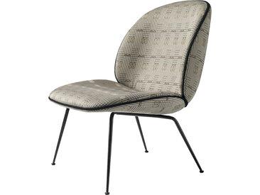 GUBI fauteuil BEETLE LOUNGE CHAIR CONIC BASE (Sehnsucht M6329A04 base noire - tissu Backhausen)