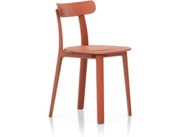 VITRA chaise ALL PLASTIC CHAIR (Deux tonalités de briques - Polypropylène teinté dans la masse)
