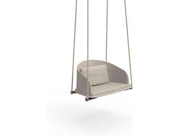 TALENTI balançoire avec cordes d'extérieur CLEO TEAK Collection Icon (Ecru light mélange - Tissu)