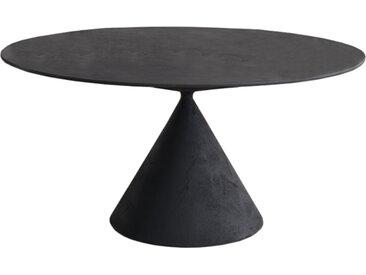 DESALTO table oval CLAY (120x180 cm / Béton noir - Base en polyuréthane / Plateau MDF avec revêtement)