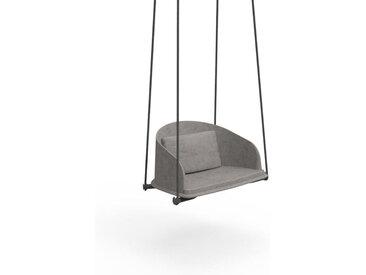TALENTI balançoire avec cordes d'extérieur CLEO TEAK Collection Icon (Light grey - Tissu)
