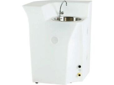 SLIDE comptoir de bar lumineux avec le évier et mitigeur JUMBO CORNER (Blanc - Polyéthylène)