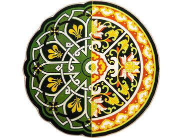 SELETTI tapis rond HYBRID PERINZIA (Ø 200 cm - Polyester et coton)