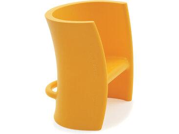 MAGIS chaise ou cheval à bascule pour enfants TRIOLI (Jaune - Polyéthylène)