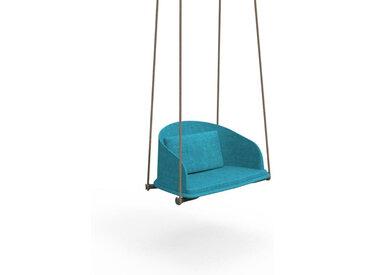 TALENTI balançoire avec cordes d'extérieur CLEO TEAK Collection Icon (Light Blue - Tissu)