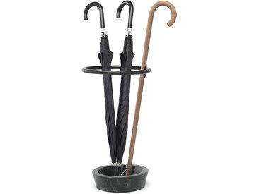 MOGG set de 3 porte-parapluie RENE' (base marbre Marquina, canne bois naturel - bois de hêtre et marbre)