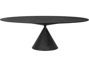 DESALTO table oval CLAY (120x218 cm / Pierre de lave - Base en polyuréthane / Plateau MDF avec revêtement)